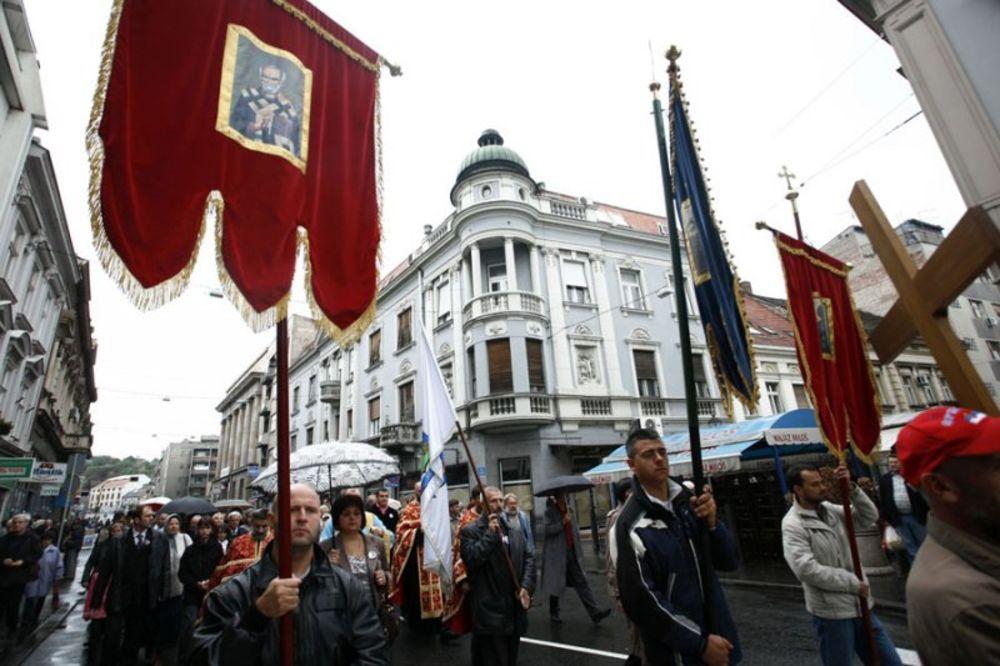 Pravoslavni vernici slave Krstovdan
