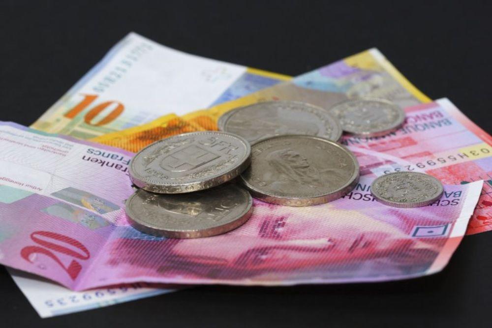 ŠVAJCARSKA CENTRALNA BANKA: Kurs švajcarskog franka i dalje nepromenjen