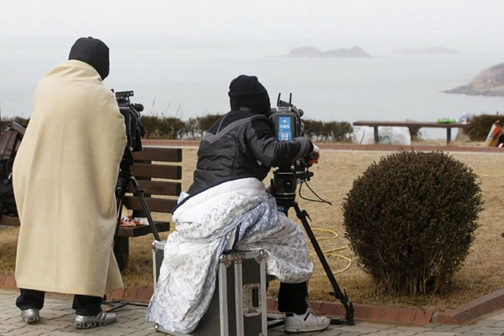 rakete, novinari, Severna Koreja, ostrvo Jeonpjeong