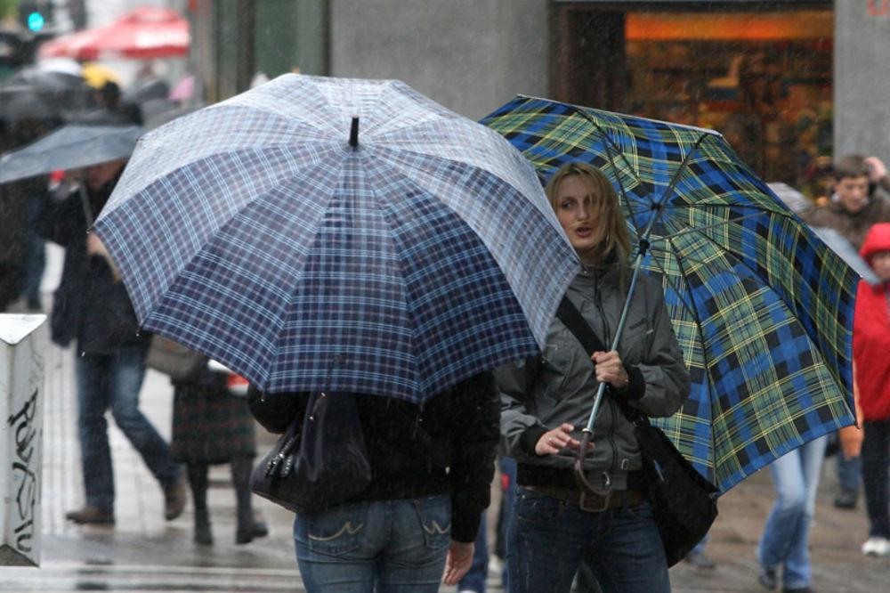 Oblačno, mestimično kiša u nedelju, temperatura do 26 stepeni