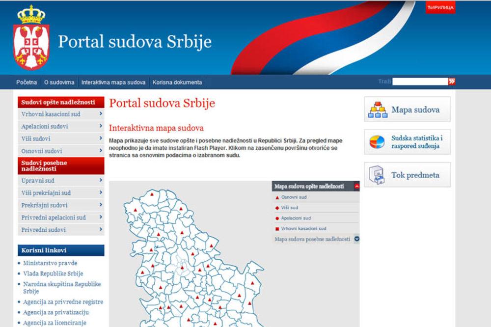 www.portal.sud.rs, ministarstvo pravde srbije, portal sudova srbije,
