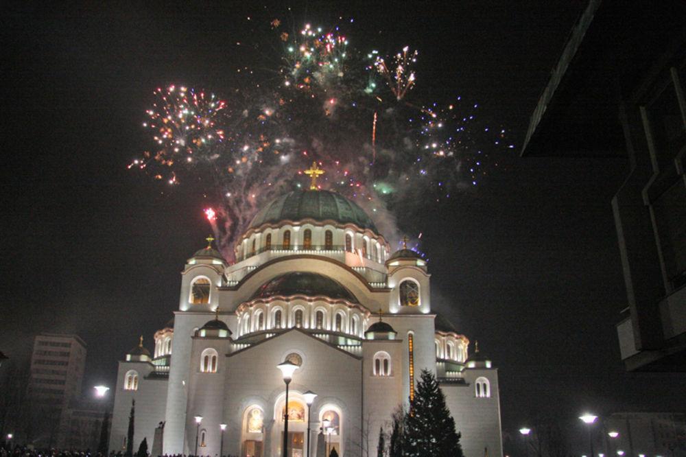 trubači, vatromet, doček Srpske nove godine, srpska Nova godina, moleban