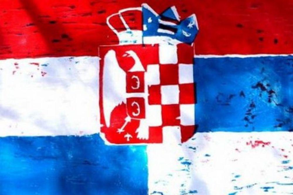 šahovnica, srpska zastava, EP rukomet 2012