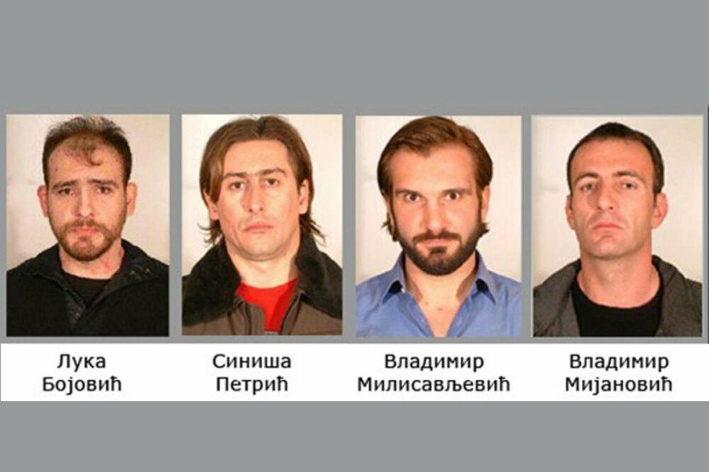 zemunski klan, hapšenje, Vladimir Milisavljević, Luka Bojović, Siniša Petrić i V
