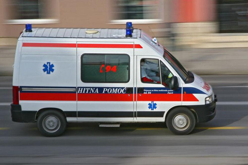 Naštradao pešak (60) na uglu Kneza Miloša i Višegradske