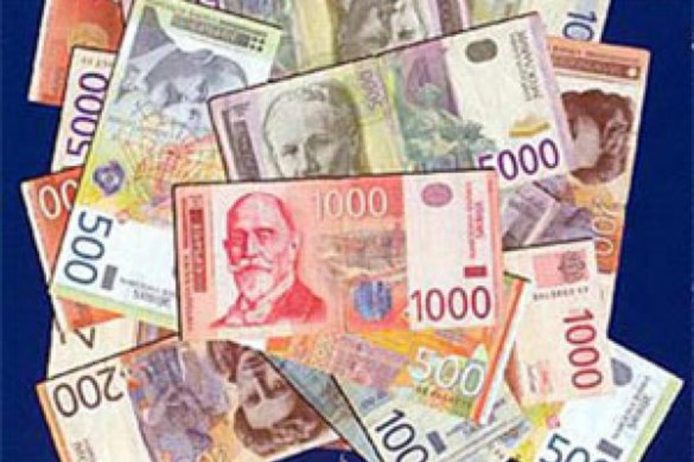 Dinar u padu za 0,1 odsto, kurs 115,37