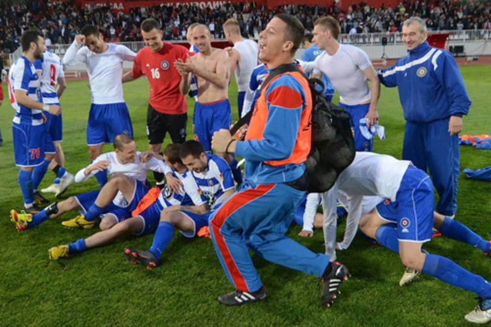 Iznenađenje: Fudbaleri Borca slave u Novovm Sadu