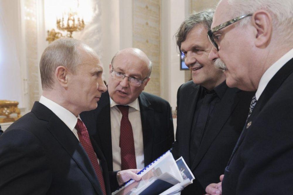 vladimir putin, putin, emir kusturica, reziser, presednik, rusija, vip poznati, rasa tudej, ruska televizija
