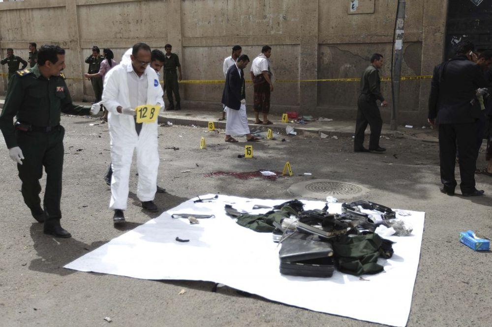 Jemen,policijska akademija, eksplozija