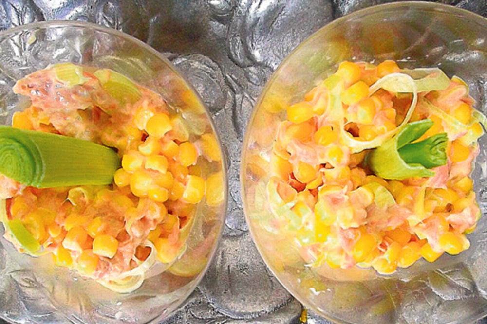 salata od tunjevine i kukuruza, recept