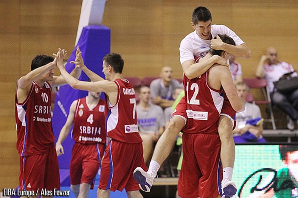 Pet pobeda u nizu: Mladi košarkaši Srbije
