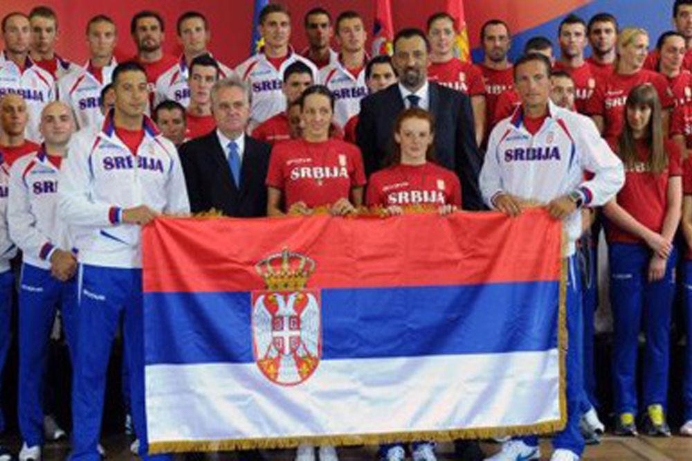 Za London: Nikolić sa srpskim olimpijcima