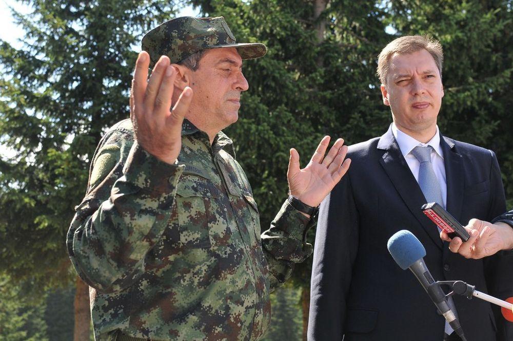 Vučić i Diković stigli na mesto pogibije vojnika