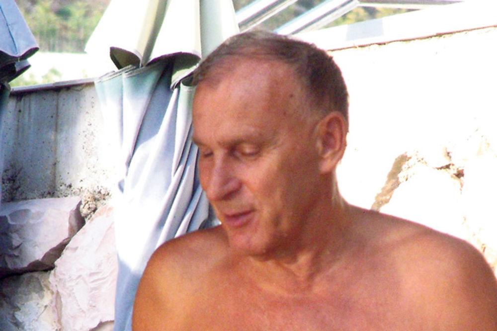 Dragan Džajić, Crvena zvezda, paparaco, plaža, Pržno, crna gora,
