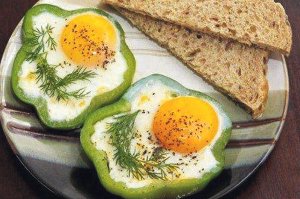 paprike, jaja, doručak