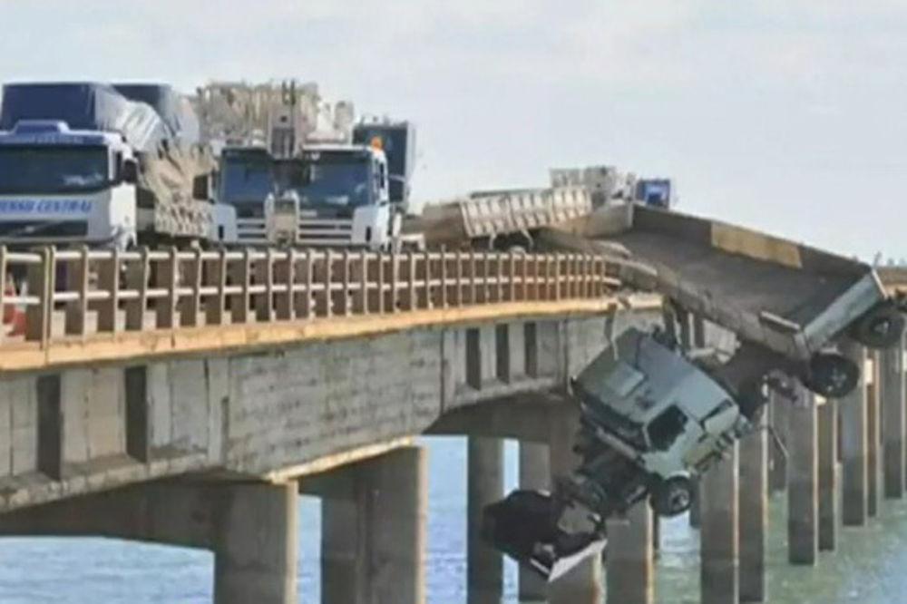 kamion, most, Brazil, čudo, živ,