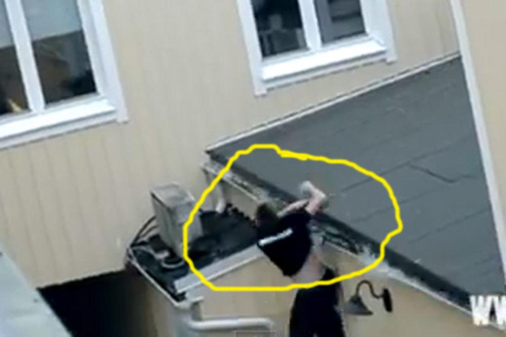 BRUTALAN SPORT: Pao sa krova, lekari ga jedva skrpili