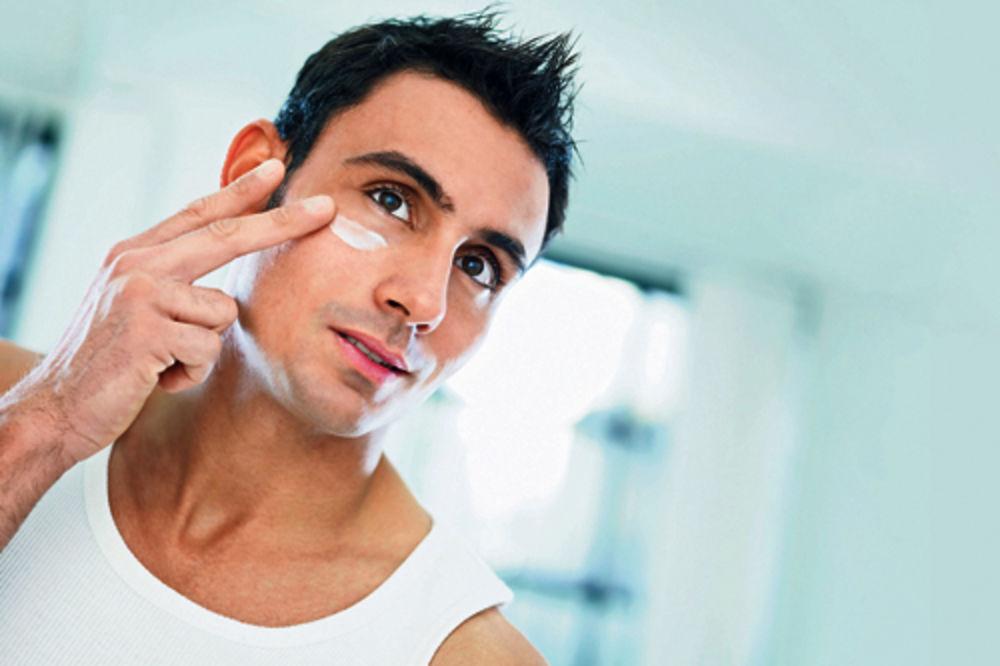muškarci, lice, brijanje, krema, gel