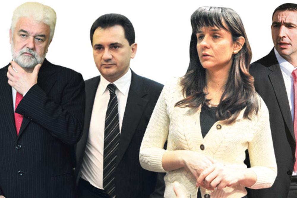Mirko Cvetković, Božidar Đelić, Snežana Malović i Oliver Dulić