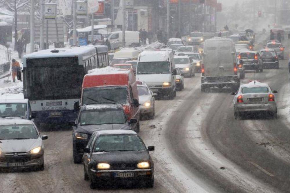 sneg, saobracaj, beograd - beta.