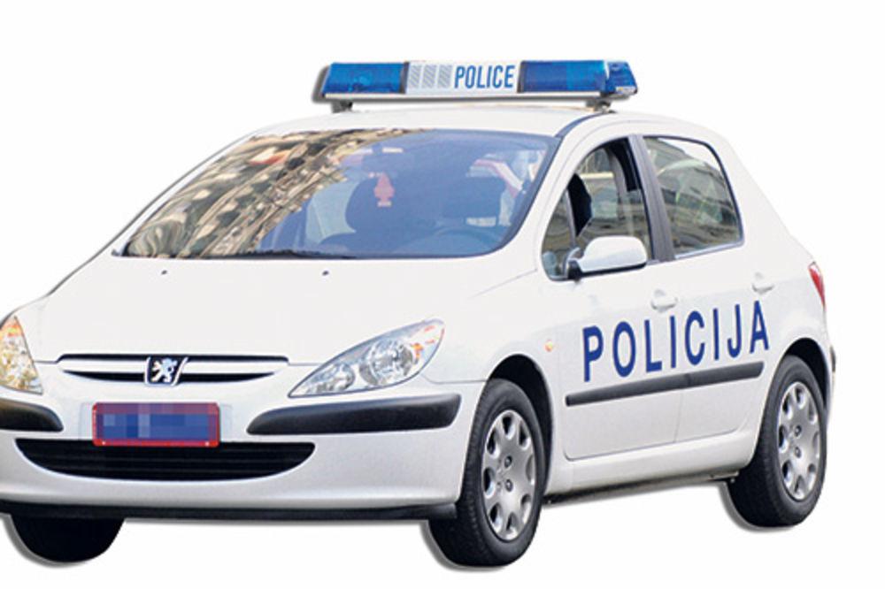 policija, policajci, policijski auto, patrola, ilustracija