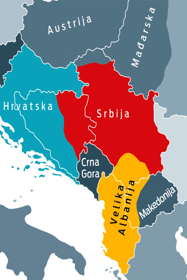 buduca karta evrope CRNE PROGNOZE: Srbija bez Vojvodine, a Bosnu deli s Hrvatima  buduca karta evrope