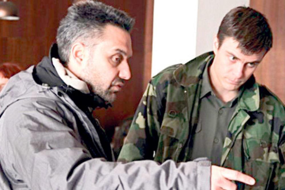 Srdan Golubović i Vuk Kostić na snimanju filma