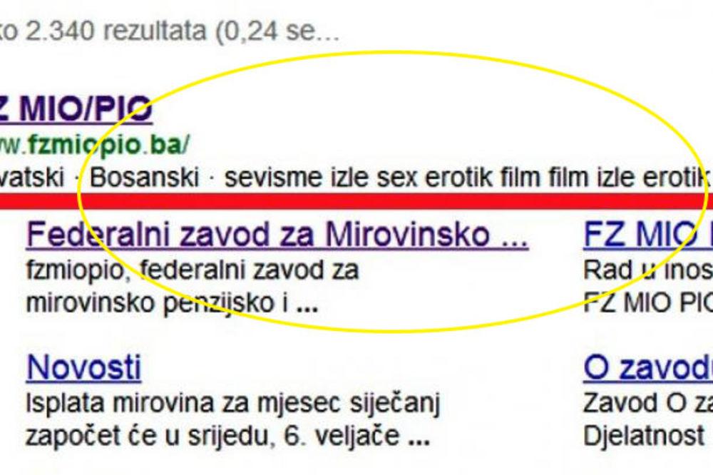 ŠUTI BOLAN EROTIKA: Penzijski zavod BiH nudi seks na internetu