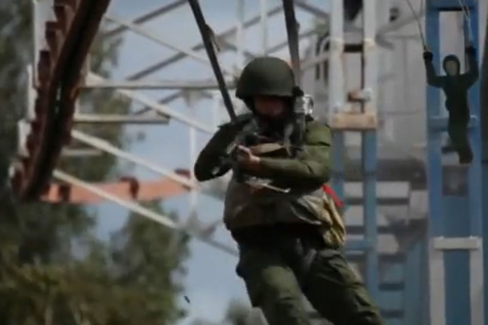 RUSKI PADOBRANCI U BEOGRADU: Zajednička akcija srpske i ruske vojske!