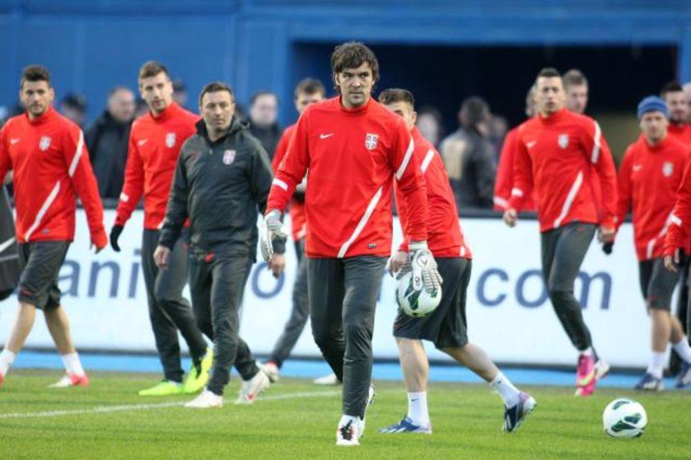 Srbija, trenig Maksimir