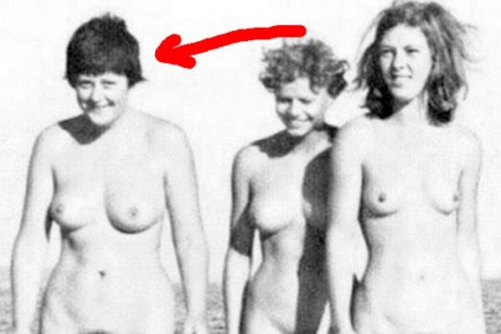 Angela Merkel, gola, plaža, dve drugarice, Fejsbuk
