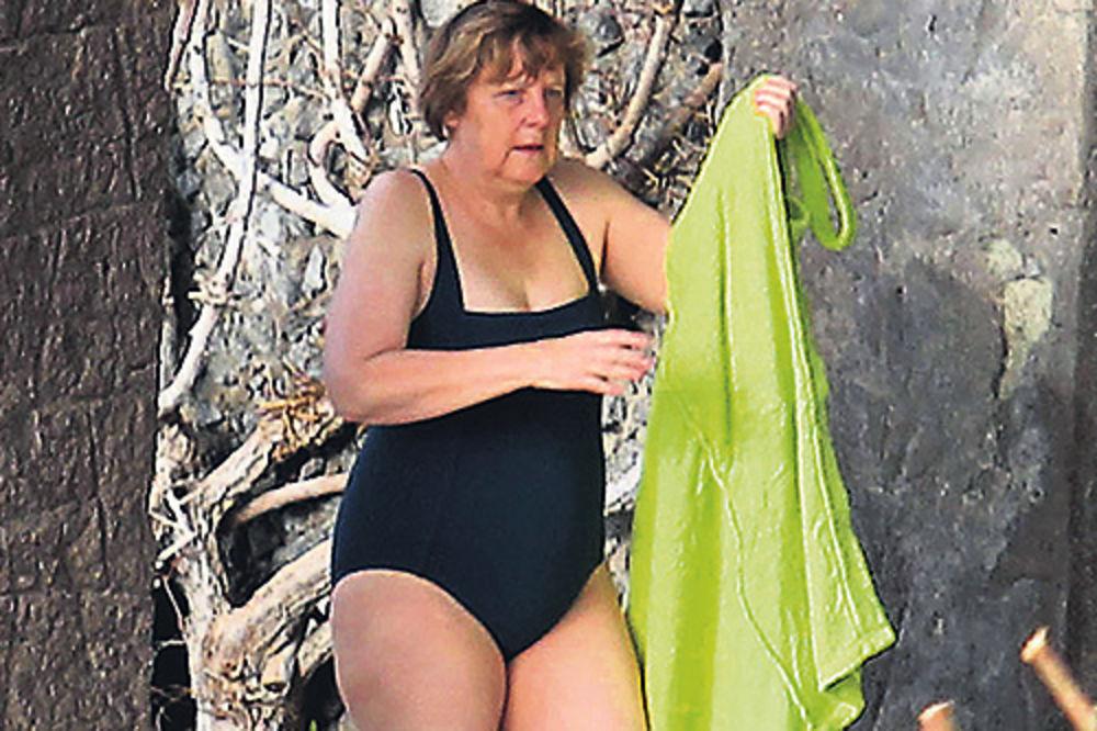 Angela Merkel, kupaći kostim, odmor, Italija, fotografije