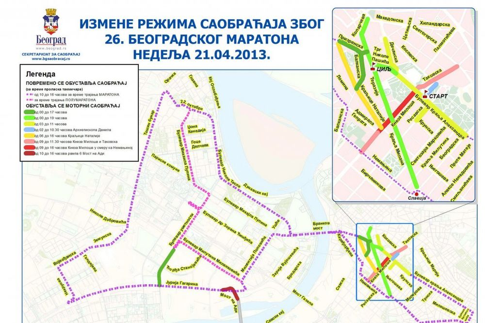 Maraton menja trasu javnog prevoza
