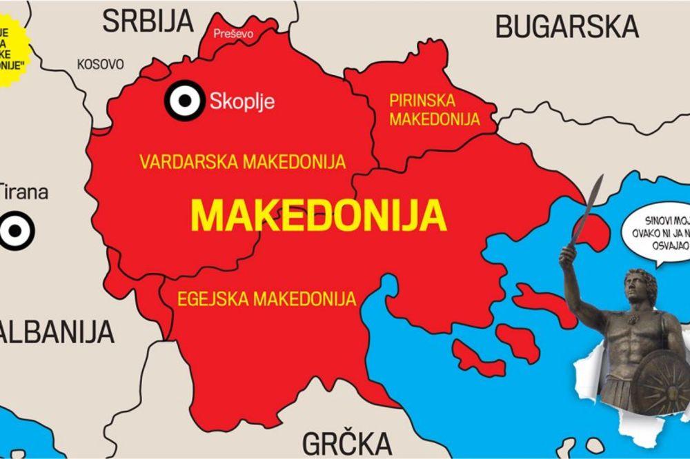 Makedonci, Makedonija, jug Srbije, cepanje, pripajanje