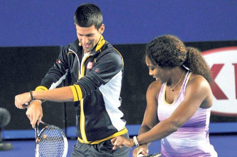 Serena vrckala pred Đokovićem