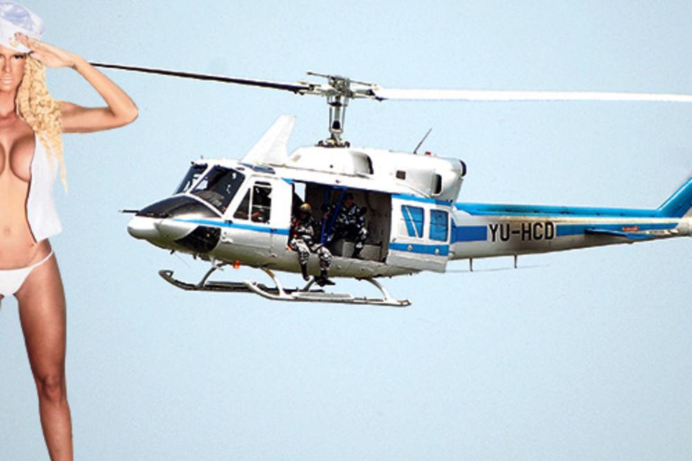 Jelena Karleuša, helikopter, koncert, Ušće