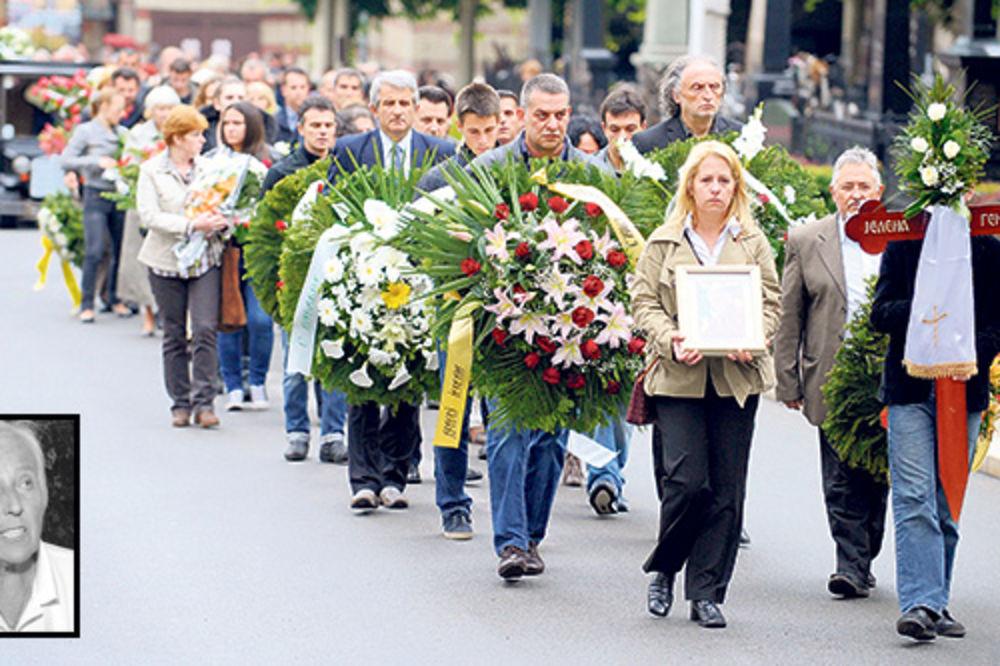sahranjena Jelena Genčić, Novo groblje, oproštaj, porodica Đoković, Radmilo Arme