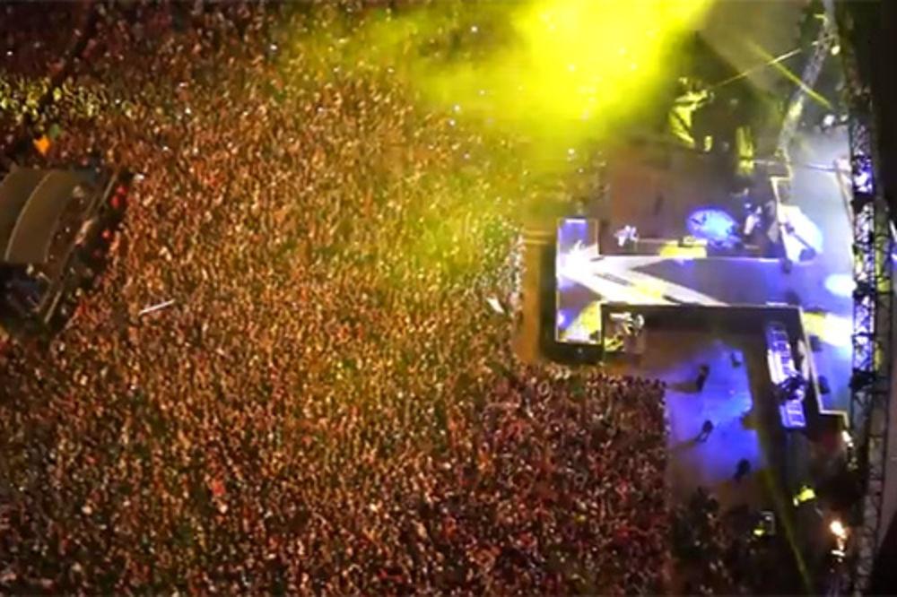 Pogledajte Cecin koncert za pamćenje iz helikoptera