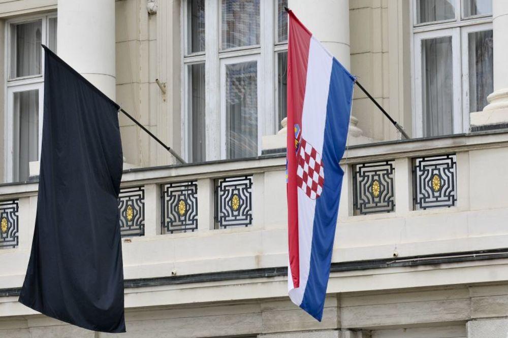 Crne zastave za EU: Protest u Hrvatskoj