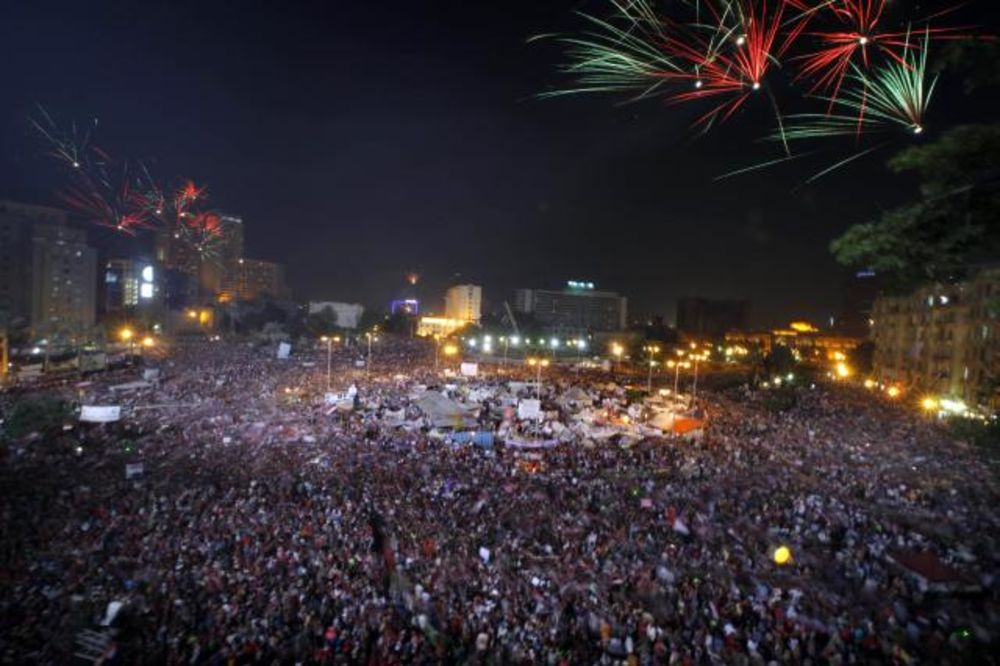 Slavlje u Kairu povodom svrgavanja Morsija