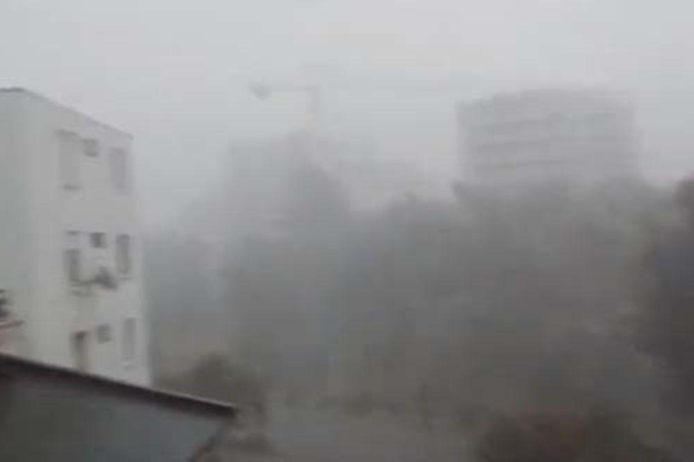HAOS U SPLITU: Jako nevreme potopilo ulice i paralisalo grad