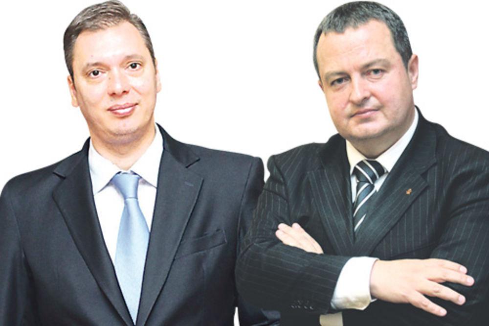 Nadaju se mladom kolegi ... Aleksandar Vučić i Ivica Dačić