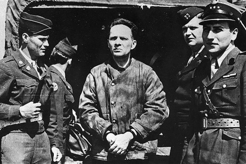 The arrest of criminal Rudolf Hess