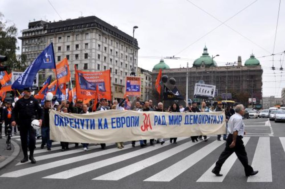 protest, sindikat, nezavisnost, branislav čanak, tanjug