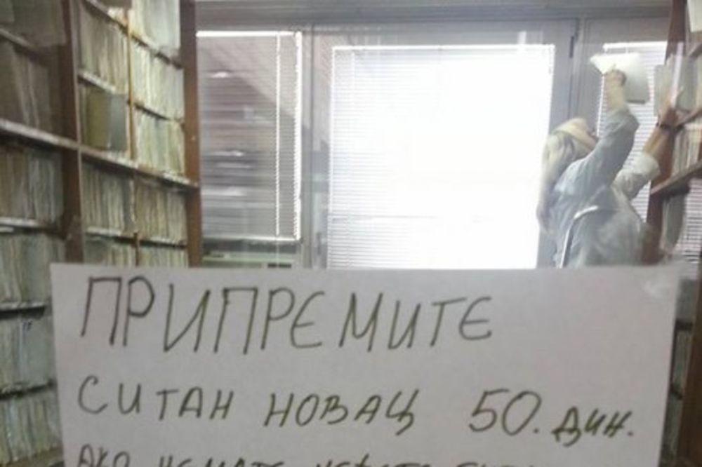PACIJENTI, BEZ PANIKE: Ne mora sitno 50 dinara za pregled, Fejsbukom opet kruži fotka iz 2013!