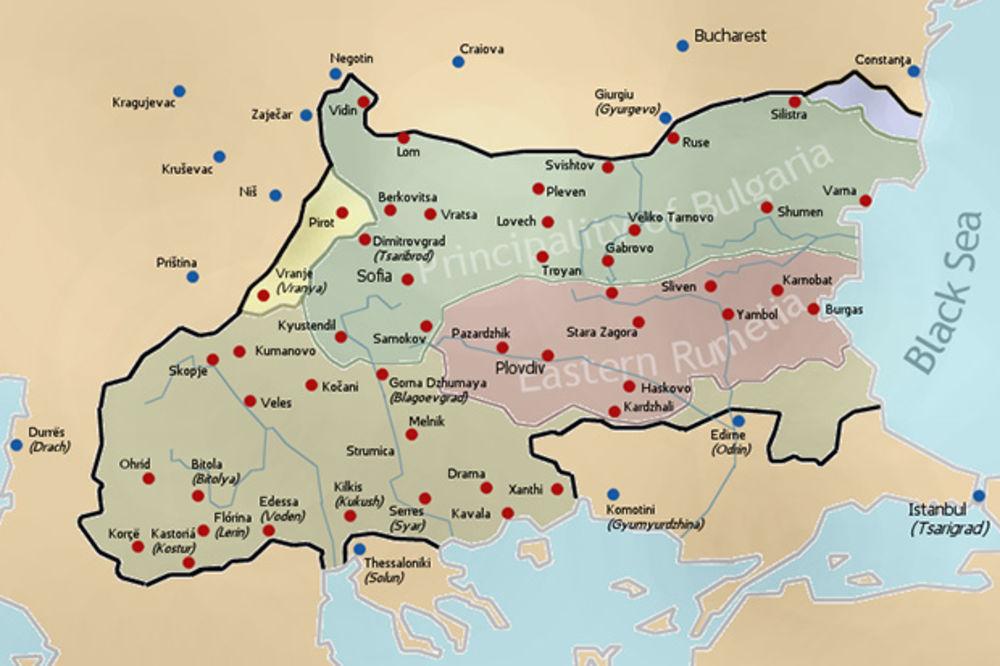 bugarska mapa ČERUPANJE SRBIJE: Bugarska desničarska Ataka zahteva srpske  bugarska mapa