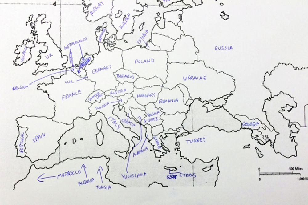 Pogledajte Kako Su Amerikanci Resili Test Iz Geografije