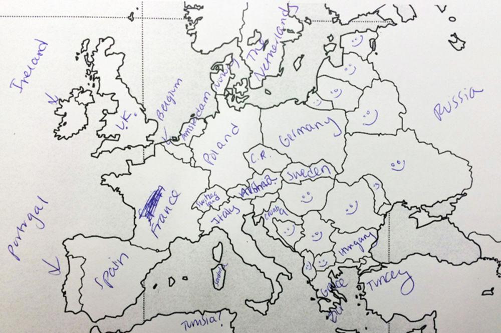 nema karta evrope test Pogledajte kako su Amerikanci