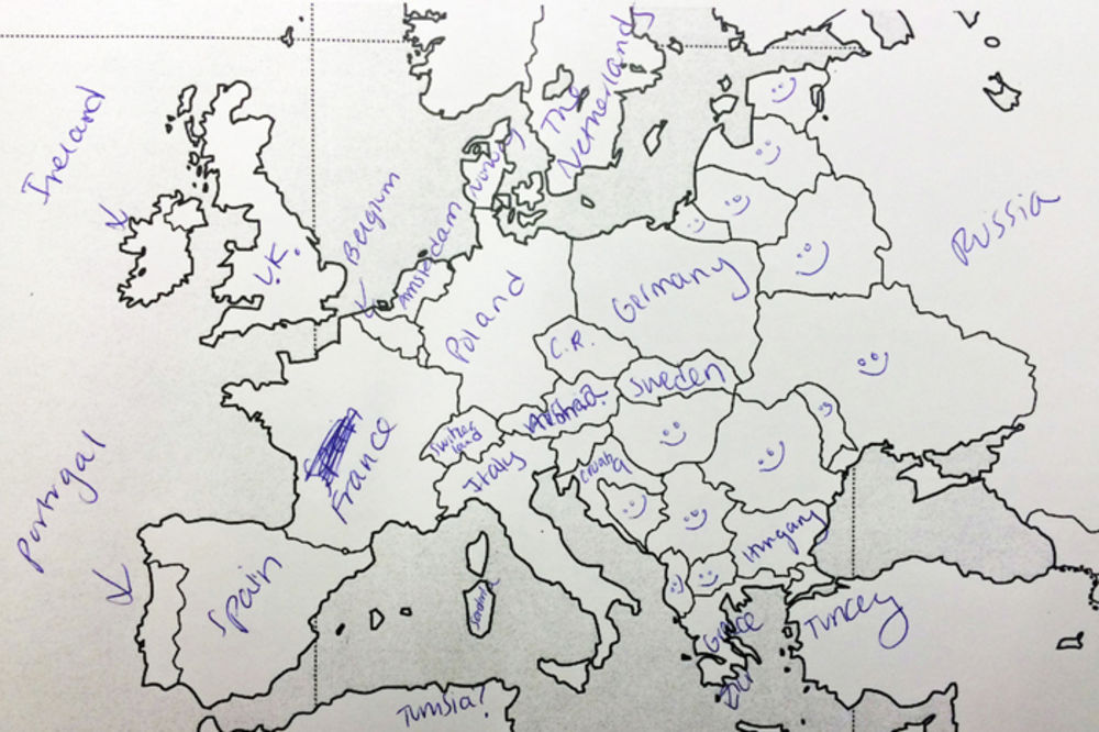 Nema Karta Evrope Test Superjoden