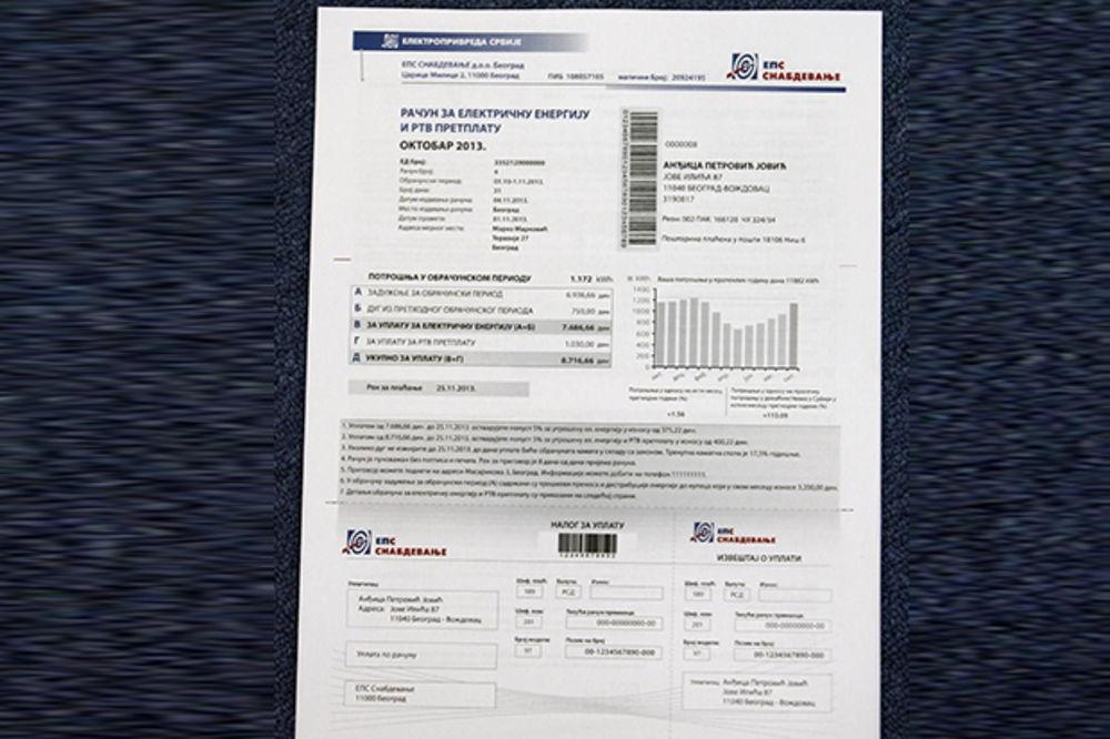 NEMA VIŠE: Avgustovski račun za struju bez TV pretplate!